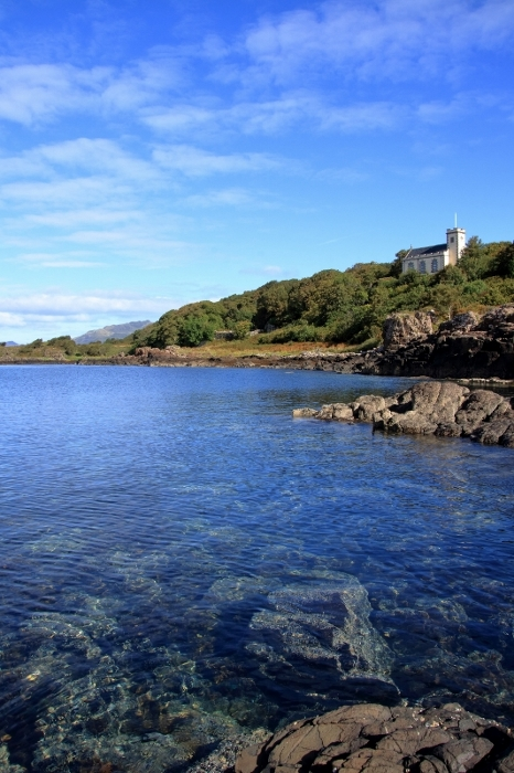 Crystal clear water of the Sound of Mull