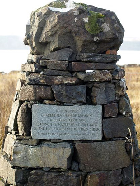 Cairn in memory of Charles MaClean