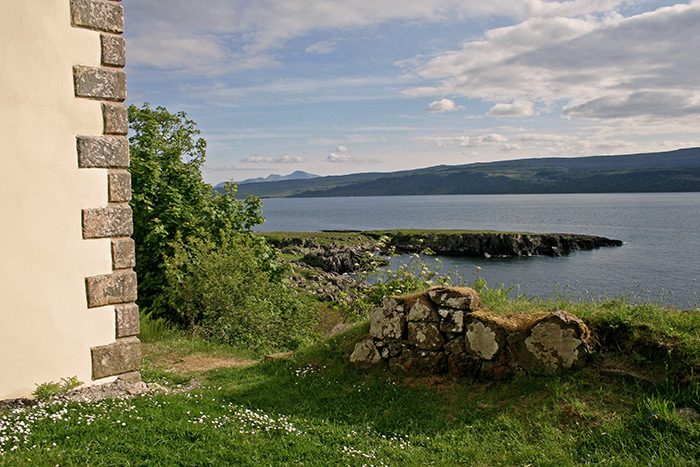Chapel and Castle Wall with View