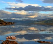 View from Bonnovoulin Bay along the Sound of Mull